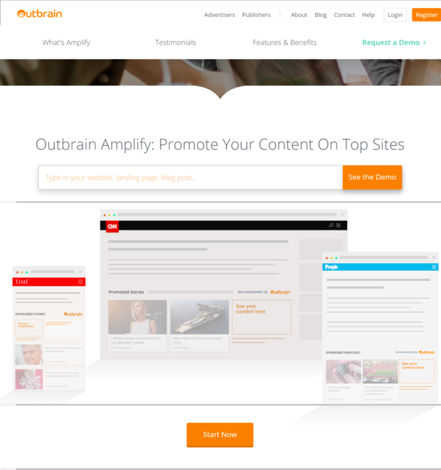 Outbrain Content Distribution Tools